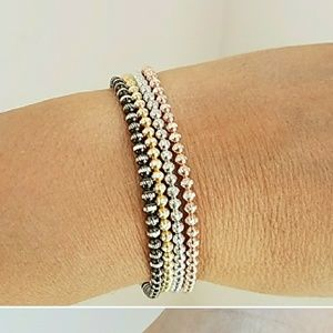 2 pc GOLD PLATED OVER STERLING SILVER BRACELET